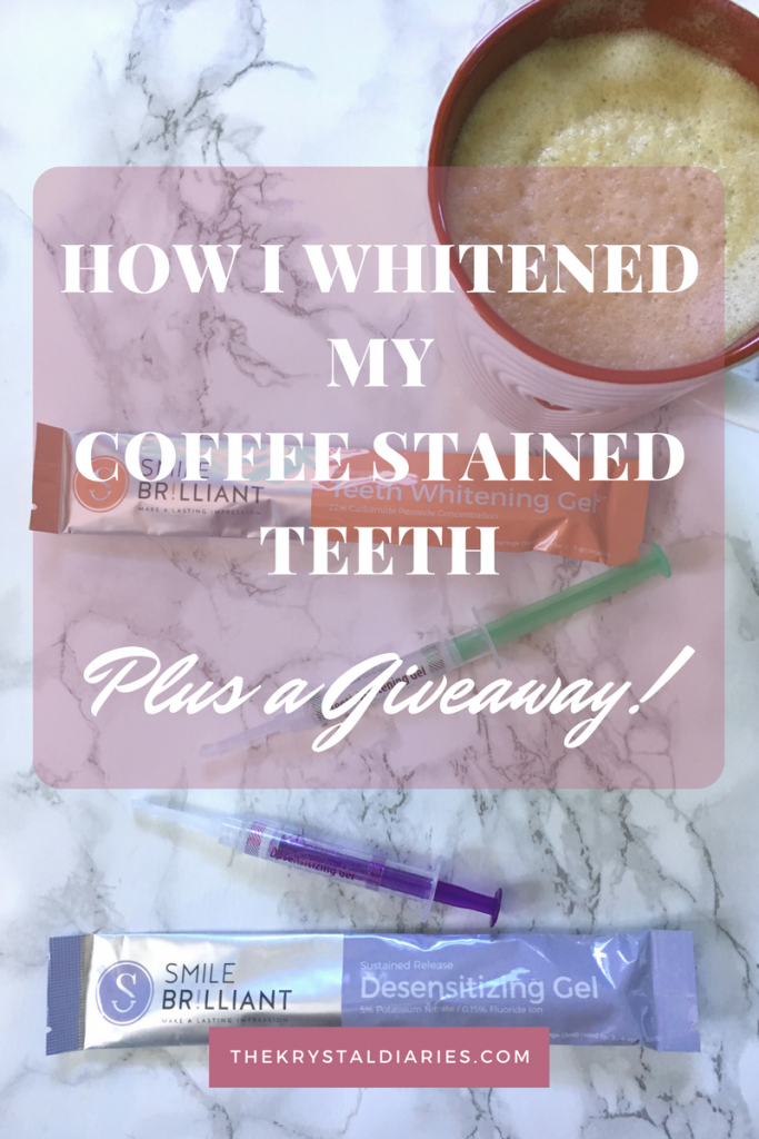 Smile Brilliant Teeth Whitening Review Plus a Giveaway // The Krystal Diaries