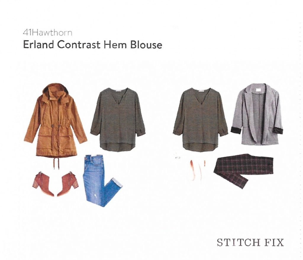 Erland Contrast Hem Blouse - 41Hawthorn // Stitch Fix Review October 2016 // The Krystal Diaries